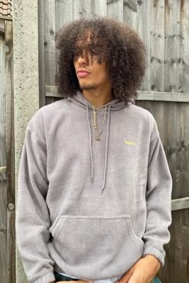 iets frans... Grey Fleece Hoodie - Grey L at Urban Outfitters