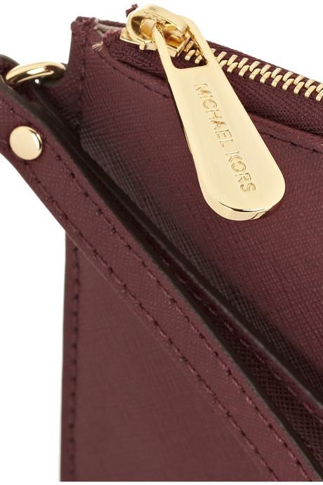 MICHAEL Michael Kors Jet Set textured-leather pouch