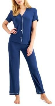 Alfani Short-Sleeve Pajama Set, Created for Macy's