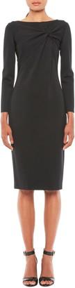 Emporio Armani Twist Front Long Sleeve Jersey Dress