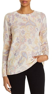 Bloomingdale's C by Cashmere Paisley Print Sweater - 100% Exclusive