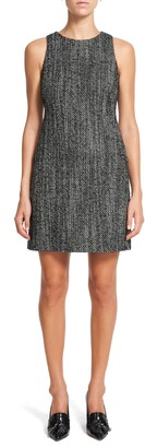 Theory Tweed Sleeveless Sheath Dress