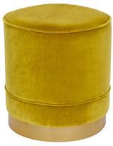 Kim Salmela Piper Stool - Citrine Velvet frame, brass; upholstery, citrine