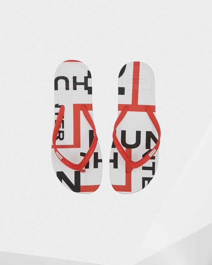 Hunter Men's Original Exploded Logo Flip Flop