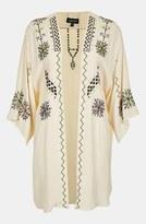 Topshop Embroidered Kimono Jacket