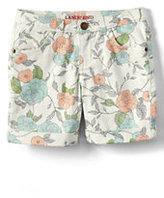Classic Little Girls 5 Pocket Color Denim Midi Shorts-Fresh Melon