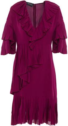 Gucci Pleated Silk Crepe De Chine Dress