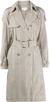 MICHAEL Michael Kors Check-Pattern Trench Coat