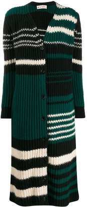 Marni Long-Length Striped Cardigan
