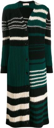 Marni long-length striped cardigan