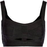 Herve Leger Cutout bandage cropped top