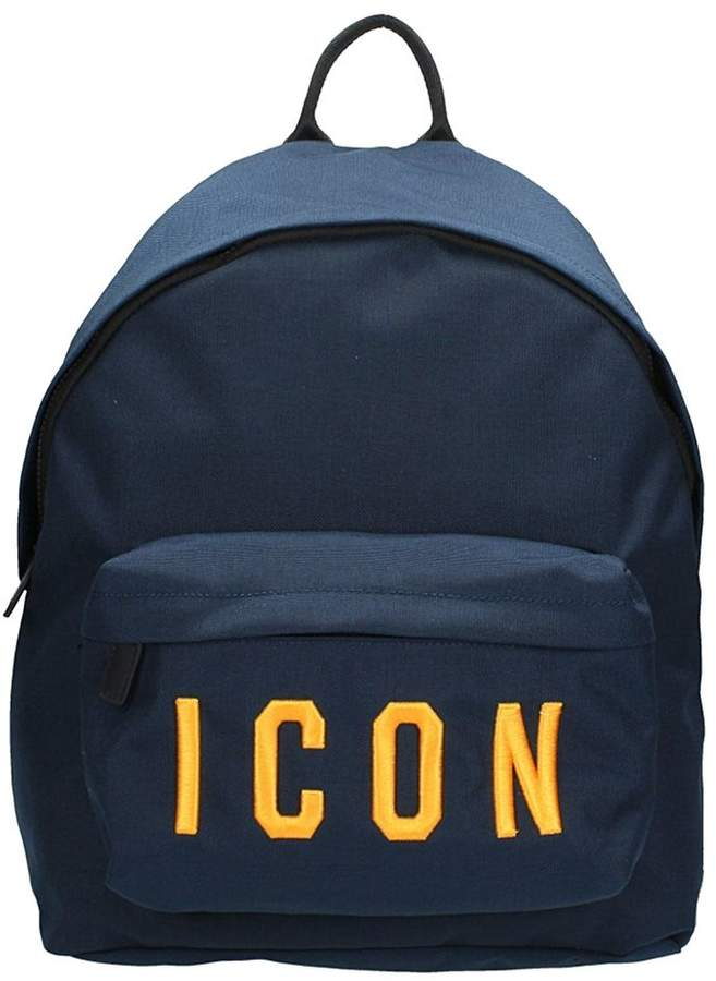DSQUARED2 Icon Blue Cotton Backpack