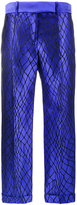 Haider Ackermann Mid-Rise Trousers With Net Embroidery