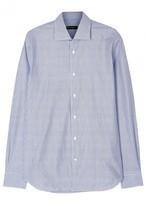 Corneliani Blue Striped Cotton Shirt