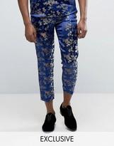 Reclaimed Vintage Inspired Brocade Pants