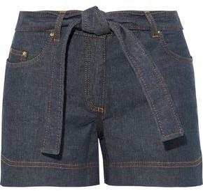 Moschino Belted Denim Shorts