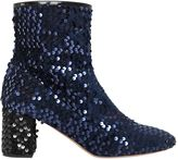 Rochas 60mm Sequined Velvet Ankle Boots