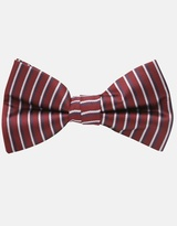 Striped Bow Tie - Red