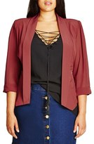 City Chic Plus Size Women's Drapey Chiffon Sleeve Jacket