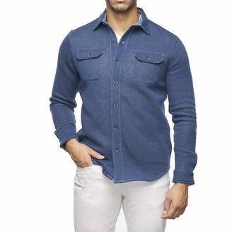 Tailor Vintage Men's Long Sleeve Sherpa Lined Fleece Shirt