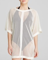 Carmen Marc Valvo City Slick Mesh Swim Cover Up