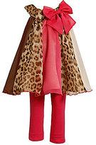 Bonnie Baby Infant Chiffon A-Line Dress & Solid Leggings Set