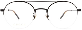 Gucci Semi-Rimless Round Framed Glasses