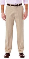Haggar Expandomatic Stretch Casual Pant - Classic Fit, Flat Front, Hidden Expandable Waistband