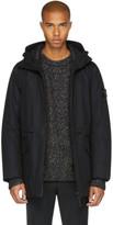 Stone Island Black Hooded Coat