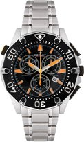 Rotary Men's Quartz Watch with Black Dial Analogue Display and Silver Stainless Steel Bracelet AGB90036/C/04