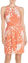 Trina Turk Lenia Print Pique Fit & Flare Dress