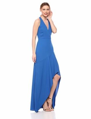BCBGMAXAZRIA Azria Women's Asymmetrical Crepe High-Low Gown