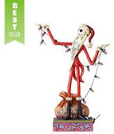 "Disney Jim Shore Traditions by Enesco Santa Jack With ""Christmas"" Lights Figurine"