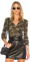 Stateside Camo Thermal Top in Olive. - size M (also in S,XS)