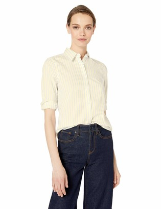 Chaps Women's 3/4 Sleeve Non Iron Broadcloth Shirt
