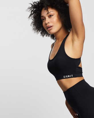 Unit Women's Black Crop Tops - Control Strap Sports Bra - Size One Size, 8 at The Iconic
