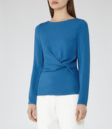 Reiss Ora Knot-Front Top