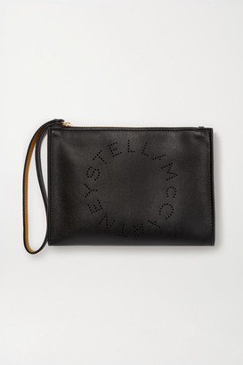 Stella McCartney Perforated Vegetarian Leather Pouch - Black