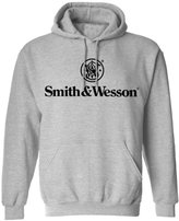 Smith & Wesson Men's Stacked Logo Pullover Hooded Sweatshirt ( - L)