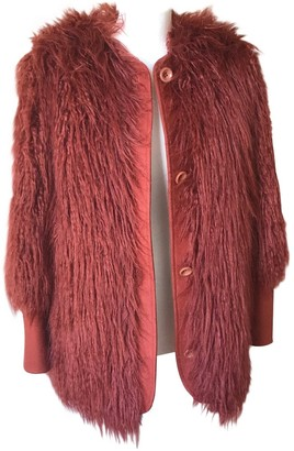 Hoss Intropia Orange Wool Coat for Women