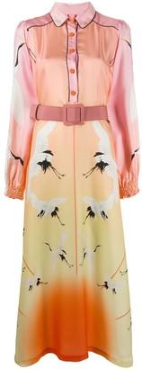 F.R.S For Restless Sleepers bird print shirt dress