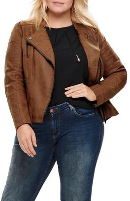 ONLY Carmakoma Avana Faux Leather Jacket