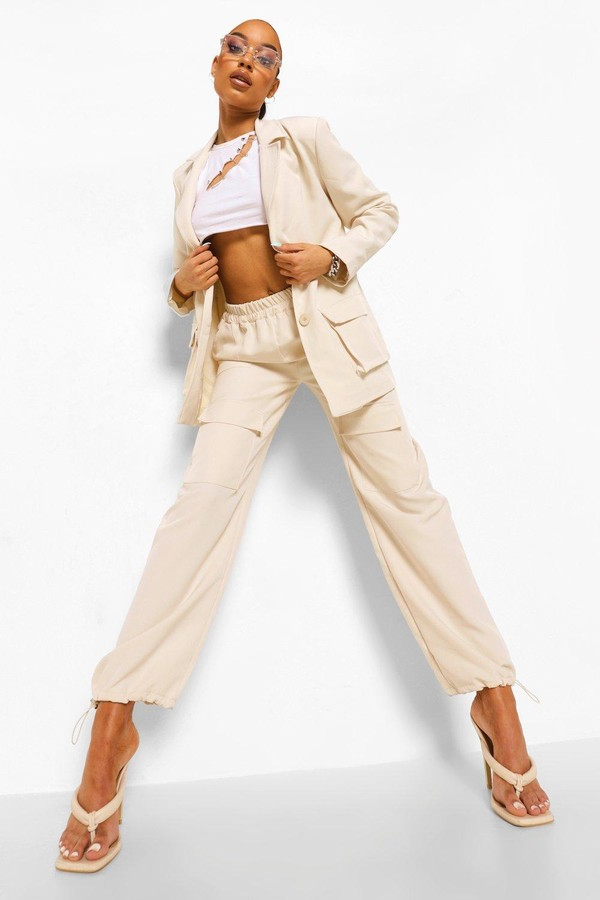 Thumbnail for your product : boohoo Tailored Utility Joggers
