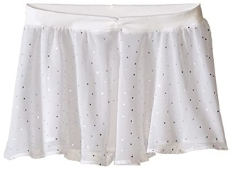 Bloch Georgette Sequin Dot Skirt (Little Kids/Big Kids) (White) Girl's Skirt
