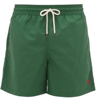 Polo Ralph Lauren Logo-embroidered Swim Shorts - Mens - Khaki