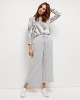Jaeger Linen Wide Cropped Trousers