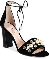 Kate Spade Iverna Pearl-Studded Open-Toe Pumps