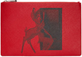 Givenchy Red Medium Bambi Zip Pouch