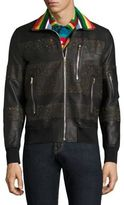 Paul Smith Contrast Leather Jacket