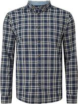 John Lewis Check Twill Shirt, Navy